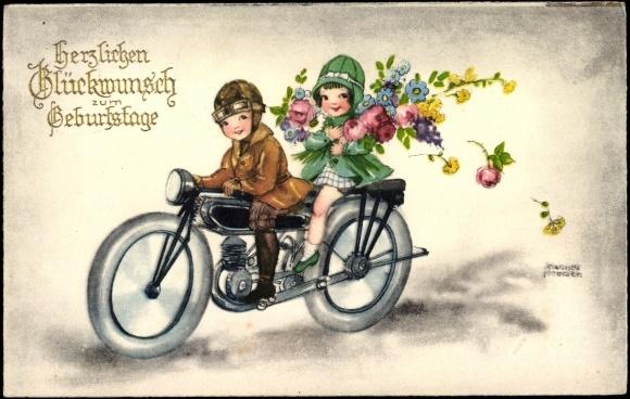 künstler ansichtskarte  postkarte petersen hannes